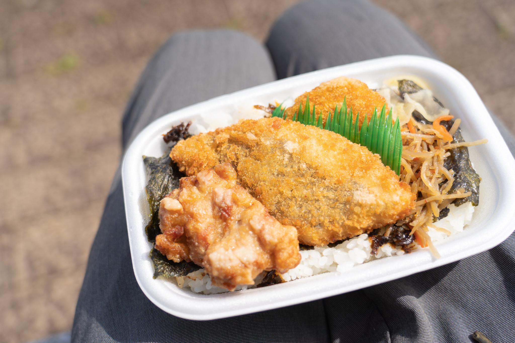 天気のいい日に、外で弁当食べるやつをした@愛知県蒲郡ガマフォルニア